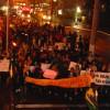 Estudantes fazem protesto em Laguna